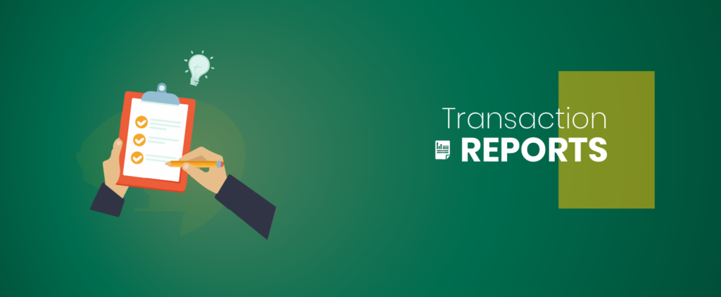 Transaction report