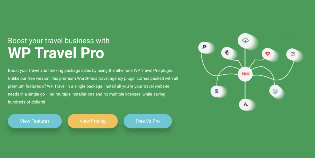 WP Travel Pro - All in one solution for Travel Booking WordPress