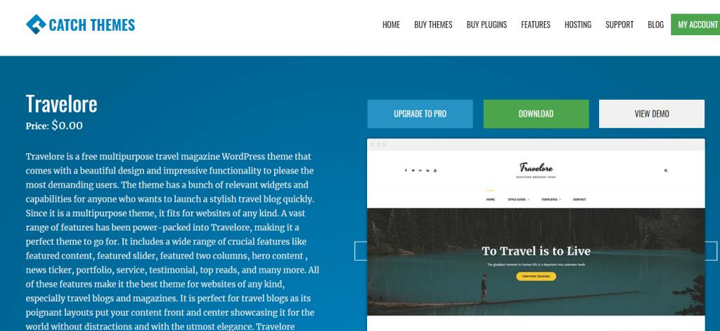 WordPress travel themes