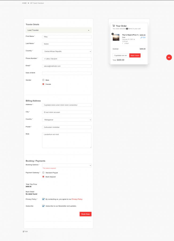 remove billing details