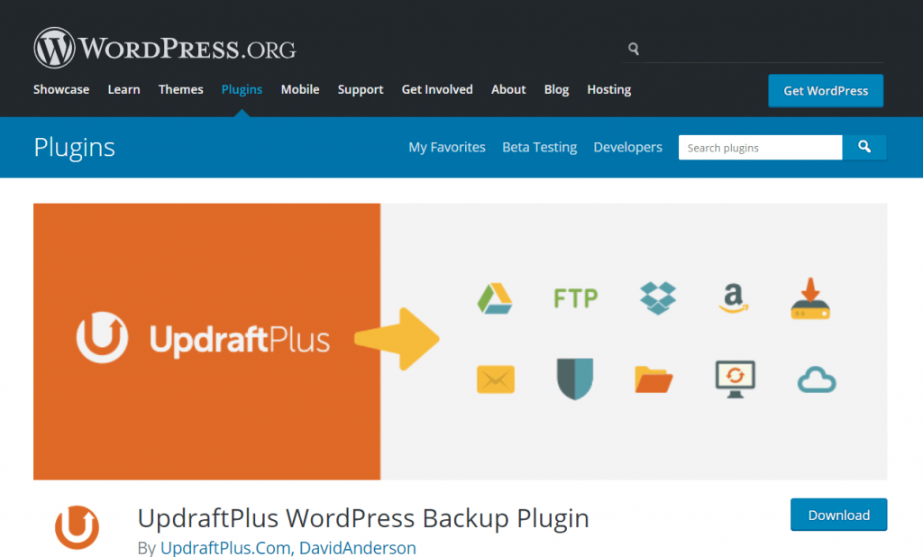 backup your WordPress site