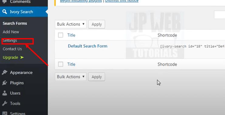 add a search bar in WordPress