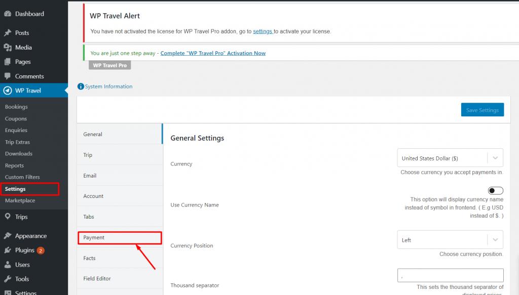 add WordPress tax option